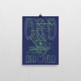 "RWY23 ORD Chicago Airport Diagram Poster 12""x16"" Wall"