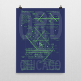 "RWY23 ORD Chicago Airport Diagram Poster 18""x24"" Wall"