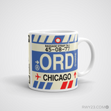 RWY23 - ORD Chicago, Illinois Airport Code Coffee Mug - Graduation Gift, Housewarming Gift - Right