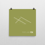 "RWY23 - PDX Portland Airport Runway Diagram Unframed Square Poster - Aviation Gift - Wall 10""x10"""