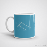 RWY23 - PDX Portland Coffee Mug - Airport Code and Runway Diagram Design - Christmas Gift Travel Gift - Left