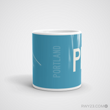 RWY23 - PDX Portland Coffee Mug - Airport Code and Runway Diagram Design - Student Gift Teacher Gift - Side