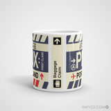 RWY23 - PDX Portland, Oregon Airport Code Coffee Mug - Teacher Gift, Airbnb Decor - Side