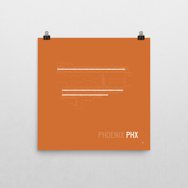 "RWY23 PHX Phoenix Airport Runway Diagram Poster Wall 10""x10"""
