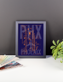 "RWY23 PHX Phoenix Airport Diagram Framed Poster 8""x10"" Desk"