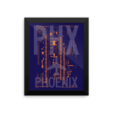 "RWY23 PHX Phoenix Airport Diagram Framed Poster 8""x10"" Wall"