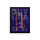 "RWY23 PHX Phoenix Airport Diagram Framed Poster 12""x16"" Wall"