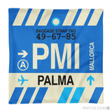 RWY23 - PMI Palma de Mallorca, Spain Airport Code Throw Pillow - Aviation Gift Travel Gift