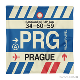RWY23 - PRG Prague, Czech Republic Airport Code Throw Pillow - Aviation Gift Travel Gift