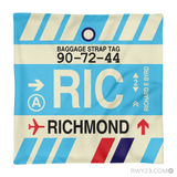 RWY23 - RIC Richmond, Virginia Airport Code Throw Pillow - Aviation Gift Travel Gift