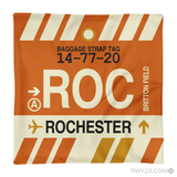 RWY23 - ROC Rochester, New York Airport Code Throw Pillow - Aviation Gift Travel Gift