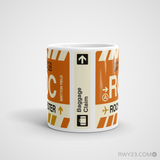RWY23 - ROC Rochester, New York Airport Code Coffee Mug - Teacher Gift, Airbnb Decor - Side