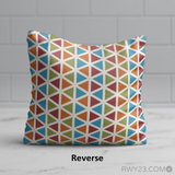 RWY23 - CLE Cleveland Throw Pillow - Airport Runway Diagram Design - Reverse