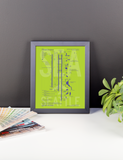 "RWY23 - SEA Seattle Airport Diagram Framed Poster - Aviation Art - Birthday Gift, Christmas Gift, Home and Office Decor  - 8""x10"" Desk"