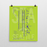 "RWY23 SEA Seattle-Tacoma Airport Diagram Poster 16""x20"" Wall"