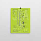 "RWY23 SEA Seattle-Tacoma Airport Diagram Poster 8""x10"" Wall"