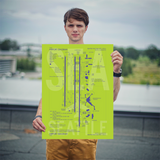"RWY23 SEA Seattle-Tacoma Airport Diagram Poster 18""x24"" Person"