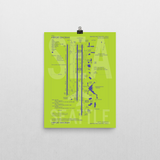 "RWY23 SEA Seattle-Tacoma Airport Diagram Poster 12""x16"" Wall"
