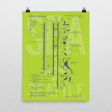 "RWY23 SEA Seattle-Tacoma Airport Diagram Poster 18""x24"" Wall"