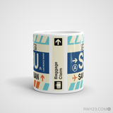 RWY23 - SJU San Juan, Puerto Rico Airport Code Coffee Mug - Teacher Gift, Airbnb Decor - Side
