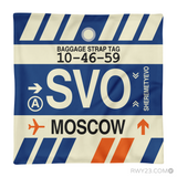 RWY23 - SVO Moscow, Russia Airport Code Throw Pillow - Aviation Gift Travel Gift