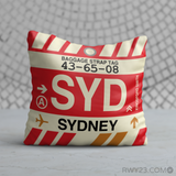 RWY23 - SYD Sydney, Australia Airport Code Throw Pillow - Birthday Gift Christmas Gift