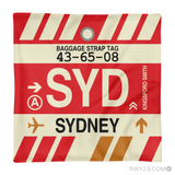 RWY23 - SYD Sydney, Australia Airport Code Throw Pillow - Aviation Gift Travel Gift
