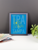 "RWY23 - TPA Tampa Airport Diagram Framed Poster - Aviation Art - Birthday Gift, Christmas Gift, Home and Office Decor  - 8""x10"" Desk"