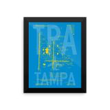 "RWY23 - TPA Tampa Airport Diagram Framed Poster - Aviation Art - Birthday Gift, Christmas Gift, Home and Office Decor  - 8""x10"" Wall"
