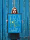 "RWY23 TPA Tampa Airport Diagram Framed Poster 18""x24"" Person"