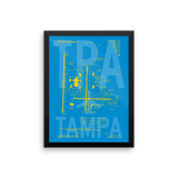 "RWY23 TPA Tampa Airport Diagram Framed Poster 12""x16"" Wall"