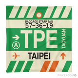 RWY23 - TPE Taipei, Taiwan Airport Code Throw Pillow - Aviation Gift Travel Gift