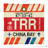 RWY23 - TRR China Bay, Sri Lanka Airport Code Throw Pillow - Aviation Gift Travel Gift