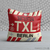 RWY23 - TXL Berlin, Germany Airport Code Throw Pillow - Birthday Gift Christmas Gift