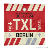 RWY23 - TXL Berlin, Germany Airport Code Throw Pillow - Aviation Gift Travel Gift