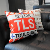 RWY23 Airport Code Baggage Tag Throw Pillows 09