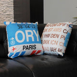 RWY23 Airport Code Baggage Tag Throw Pillows 06