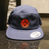 RWY23 - ABQ Albuquerque Airport Code Camper Hat - City-Themed Merchandise - Roundel Design with Vintage Airplane - Image 11