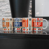 RWY23 - BOS Boston Airport Code Coffee Mug - Image 02