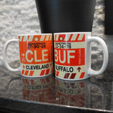 RWY23 - CLE Cleveland Airport Code Coffee Mug - Image 03