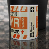 RWY23 - Airport Code Baggage Tag Coffee Mug 5