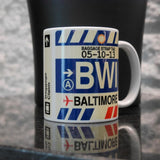 RWY23 - Airport Code Baggage Tag Coffee Mug 6