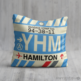 RWY23 YHM Hamilton Airport Code Baggage Tag Throw Pillow 07