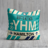 RWY23 YHM Hamilton Airport Code Baggage Tag Throw Pillow 15