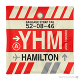 RWY23 YHM Hamilton Airport Code Baggage Tag Throw Pillow 04