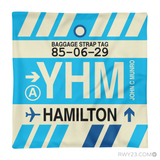 RWY23 YHM Hamilton Airport Code Baggage Tag Throw Pillow 06