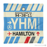 RWY23 YHM Hamilton Airport Code Baggage Tag Throw Pillow 08