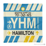 RWY23 YHM Hamilton Airport Code Baggage Tag Throw Pillow 12