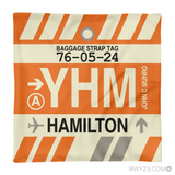 RWY23 YHM Hamilton Airport Code Baggage Tag Throw Pillow 14