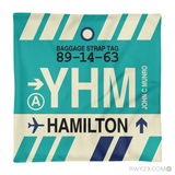 RWY23 YHM Hamilton Airport Code Baggage Tag Throw Pillow 16